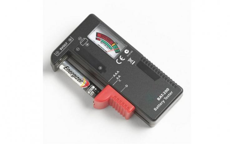 Tester de baterie pentru AA AAA C D 9V 1