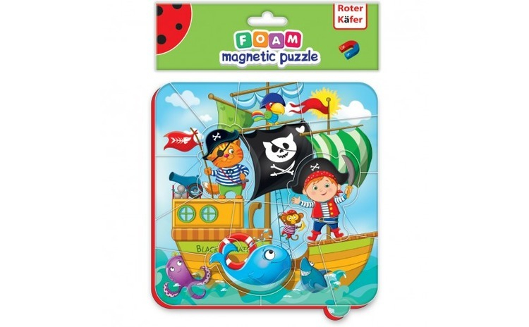 Puzzle magnetic Pirati Roter Kafer
