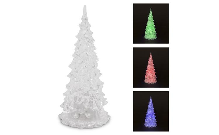 Pom de Craciun LED, acril, 22 cm