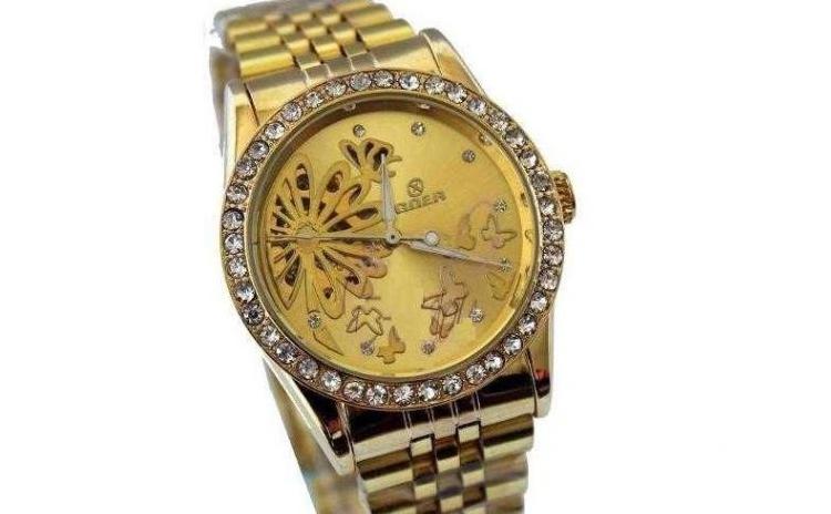 Ceas Automatic De Dama Goer Butterfly Gold La Doar 119 Ron In Loc De 250 Ron