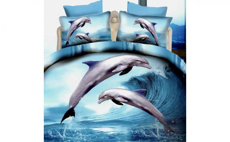 Lenjerie 3D - delfini