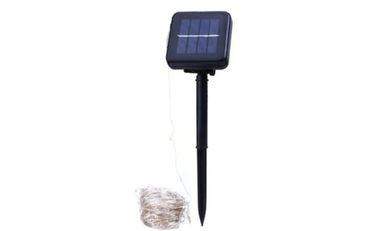 Instalatie Solara Galbena cu 100 de LED