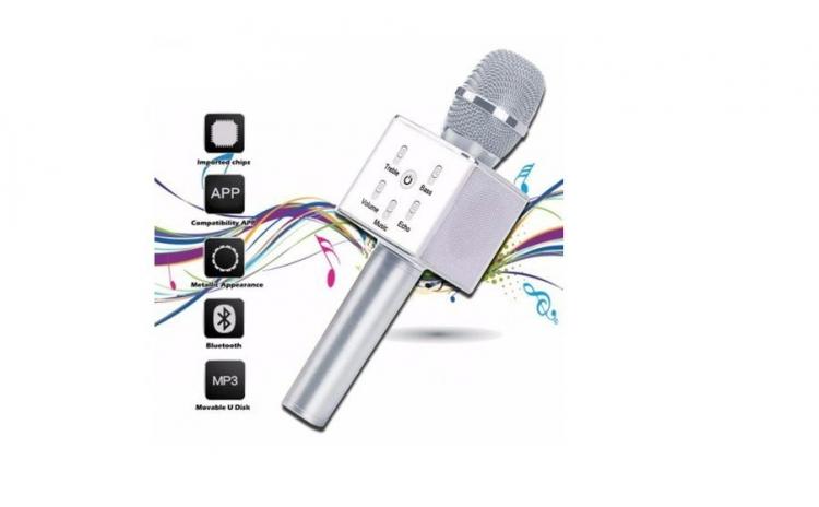 Microfon wireless cu difuzor incorporat