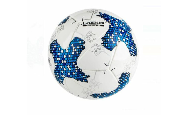 Minge de fotbal alb albastru nr.5 22.5 c