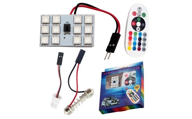 Placa LED RGB 22X32MM. CU TELECOMANDA -
