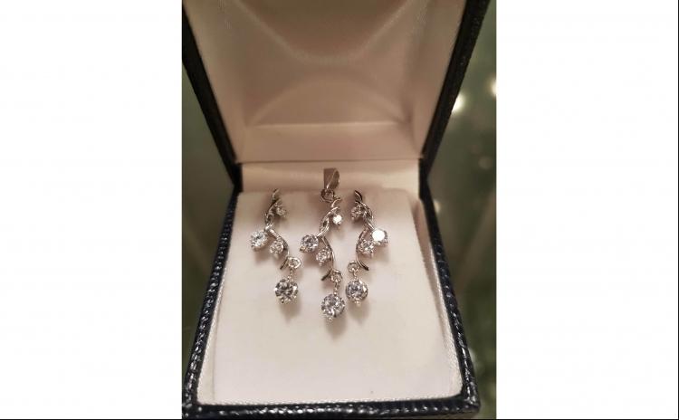 Set bijuterii argint cu zirconii