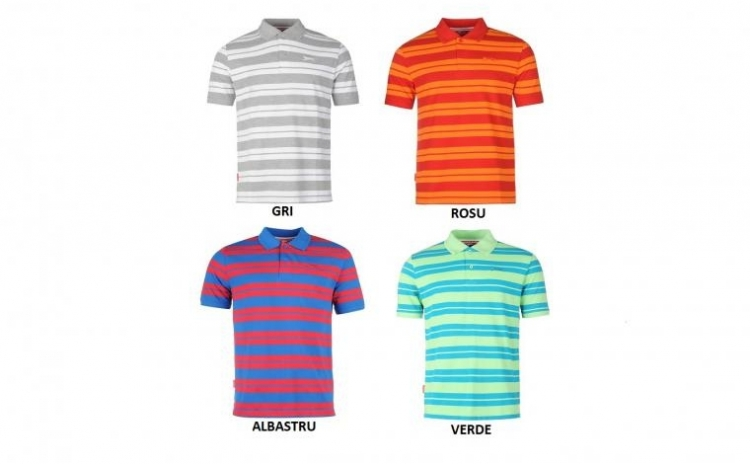 Tricou barbati Slazenger Polo Striped la doar 69 RON