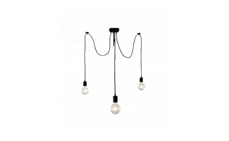 Lustra cu 3 pendule LED, E27, negru