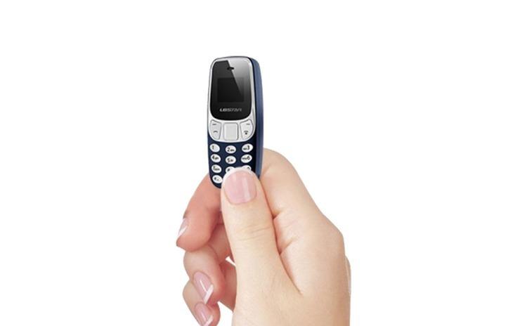 Mini telefon mobil, dual sim, negru