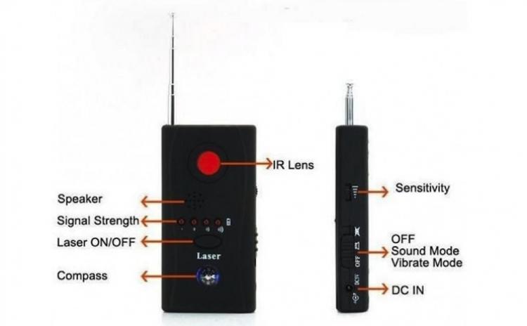 Detector microfoane, telefoane, camere