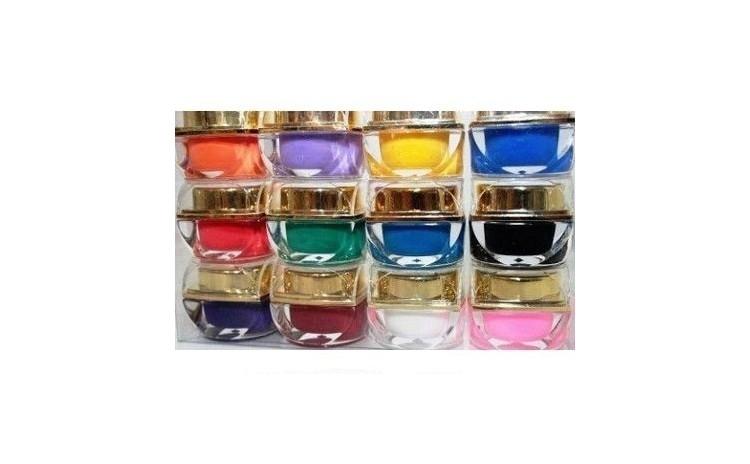 Set 12 Geluri Uv Colorate Pentru Unghii False Cadou Set Arhivat