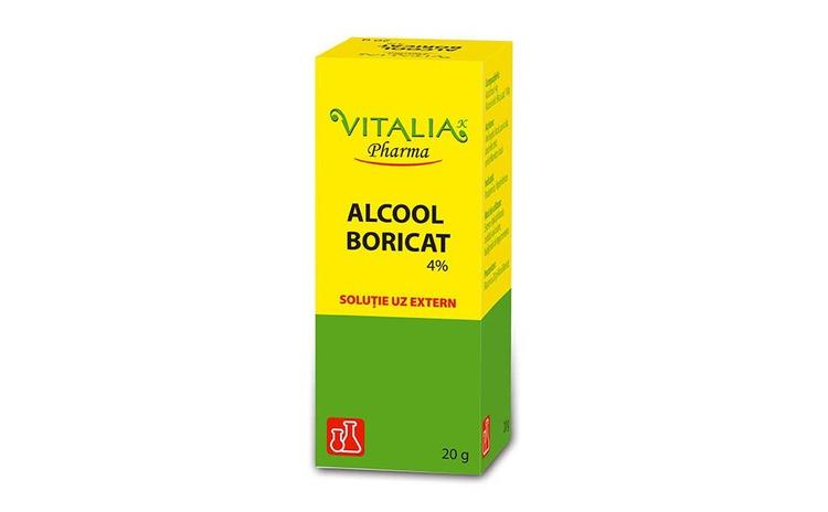 Alcool boricat 4% Vitalia Pharma, 20 ml