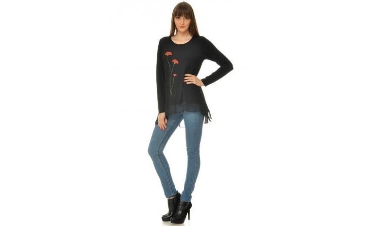 Reduceri Blazere – 50 % Reducere – Pret Bluza Dama Neagra Eranthe VE33