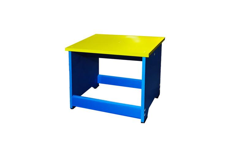 Scaunel tip bancuta din PVC albastru