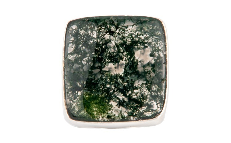 Inel dama argint 925 cu Moss Agate -