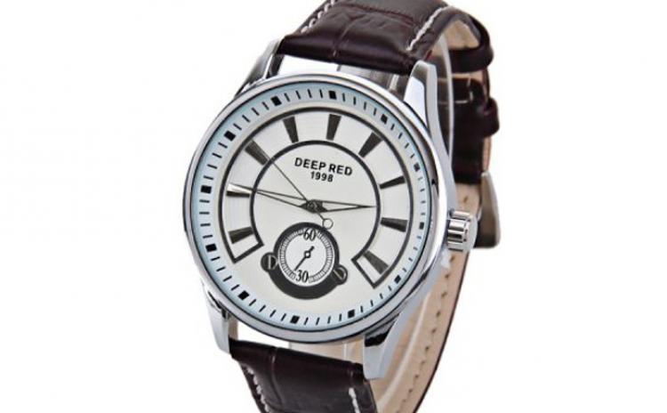 Ceas Barbatesc Deep Red - Timer - Limited Edition La Doar 99 Ron In Loc De 250 Ron