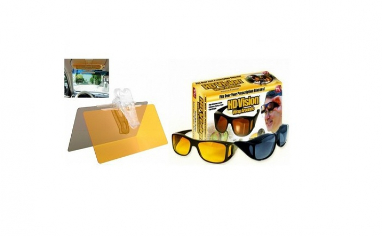 Set auto parasolar HD + ochelari
