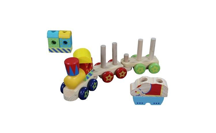 Tren de Jucarie din Lemn - Wooden Train