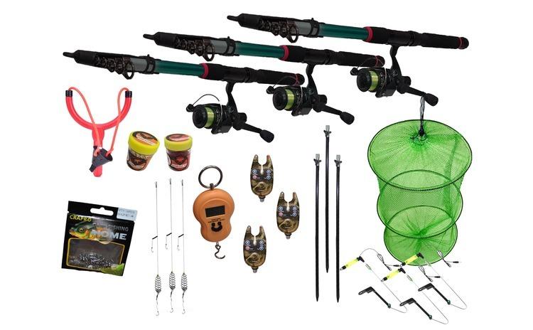 Set pescuit  23 cu 3 lansete de 3 m cu