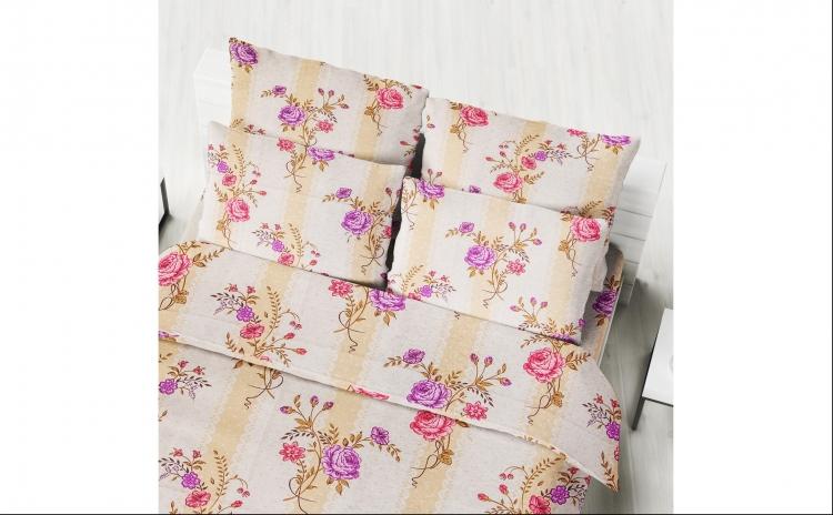 Imagine indisponibila pentru Lenjerie Bumbac Pat Matrimonial Roses la doar 89 RON in loc de 178 RON