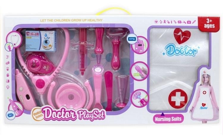 Set doctor copii, cu boneta si sortulet