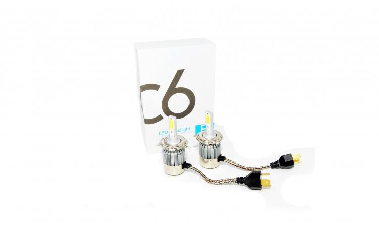 Set doua becuri cu LED auto H4