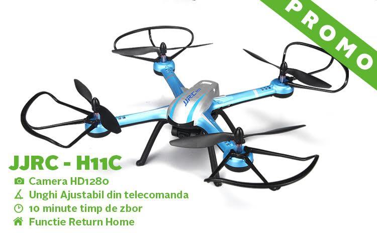 Drona JJRC-H11C cu camera HD