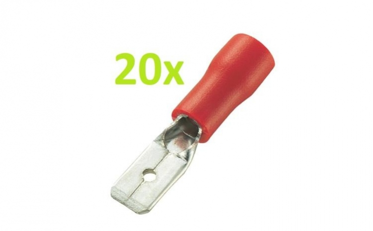 20 Buc X Papuc Tata Izolat Plat 6.4 mm