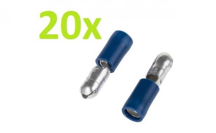 20 Buc X Papuc Tata Izolat Rotund 6.4 mm