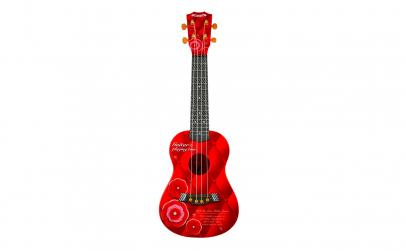 Chitara ukulele rosie - jucarie cu sunet