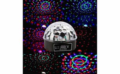 Glob disco cu lumini LED RBG USB