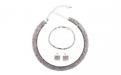 Set bijuterii dama, cu cristale