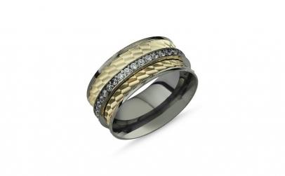 Inel argint lat placat cu rodiu negru