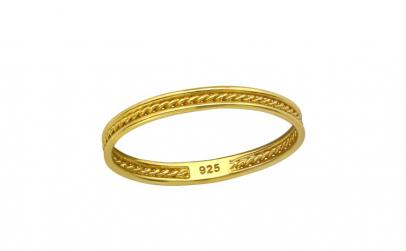 Inel argint placat cu aur 18K,