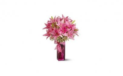 Buchet de 11 crini imperiali roz