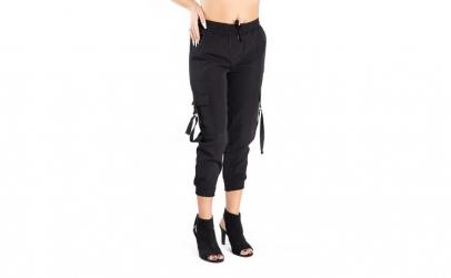 Pantaloni Dama Cargo Negru S