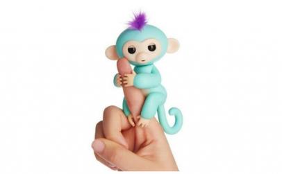 Maimuta interactiva, verde, 12cm