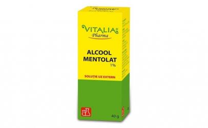 Alcool mentolat 1% Vitalia Pharma, 40 ml