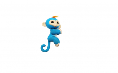 Maimuta interactiva, albastra, 12cm