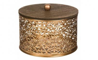 Cutie pentru depozitare decor metal lemn