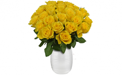 Buchet de  29 trandafiri galbeni