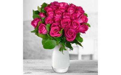 Buchet de 27 trandafiri roz