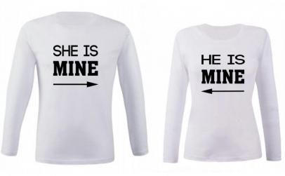 "Set bluze cupluri ""He/She is mine"""