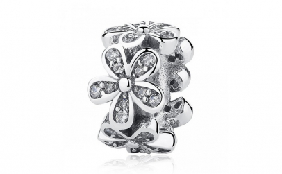Charm argint 925 cu floricele si