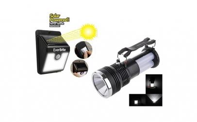 Lampa solara cu senzor + Lanterna solara