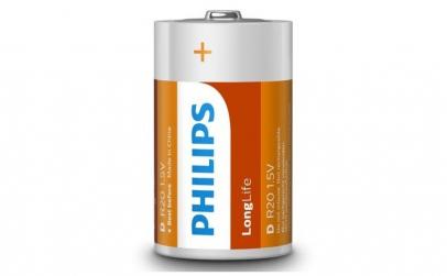Baterii Philips LongLife D 2 blister