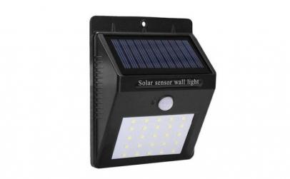 2x lampa, 30x led cu incarcare solara