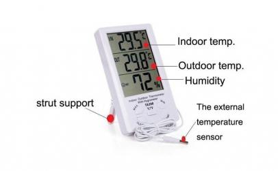 Termometru pentru interior si exterior