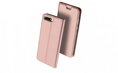 Husa Huawei Y6 2018 Roz Piele Eco Toc