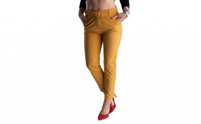 Pantaloni Eleganti Din Catifea Raiat